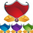 Shields with Ribbon — Stock Vector
