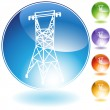 Power Line - Stock Vector