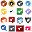 Plug Icon Set - Stock Vector