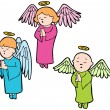 Royalty-Free Stock Vector Image: Angels praying