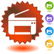 Printer Icons - Stock Vector
