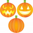 Pumpkin Set — Stock Vector