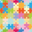 Puzzle Pieces Pattern - Stock Vector