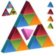 3D Pyramid - Pink — Stock Vector