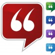 Speech Bubble Set - Quotes - Image vectorielle