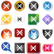 Railroad Crossing Icon Set — Stock Vector #3990298