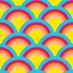 Rainbow Pattern — Stock Vector