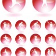 Athlete Icons — Stock Vector #3990350