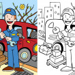 Mechanic — Vector de stock #3990369