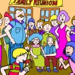 Family Reunion - Stok Vektr