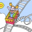 Rollercoaster Ride — Vector de stock #3990438