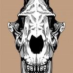 Prehistoric Skull — Stock Vector #3990528