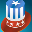 Patriotic Hat — Stock Vector