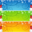 Royalty-Free Stock Immagine Vettoriale: Waving Santa Scroll Banners