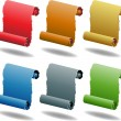 Scroll Set - Stock Vector