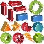 3D Икона Set — Cтоковый вектор