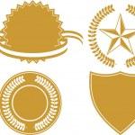 Gold Award Medals — Stock Vector #3990675