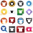 Shirt Icon Set - Stock Vector