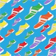 Royalty-Free Stock Vector Image: Shoe Pattern / Print