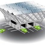 Solar Recharging Station — Stock Vector