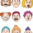 Royalty-Free Stock Imagen vectorial: Sour Faced