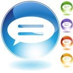Speech Bubble Crystal Icon — Stock Vector