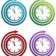 Spiral Clock - Stock Vector