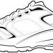Tennis Shoe — Vector de stock #3990870