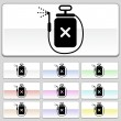 Square web buttons - Spray - Stock Vector