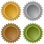 Metal Star Seals — Stock Vector #3990918