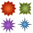 Starburst Set - Stock Vector