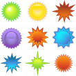 Starburst Stickers - Stock Vector