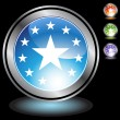 Постер, плакат: Black Chrome Icons Stars