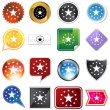 Multiple Buttons - Stars — Stock Vector
