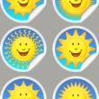 Stock Vector: Sunshine Stickers