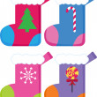 Royalty-Free Stock 矢量图片: Christmas Stockings