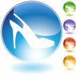 Strap Shoe Crystal Icon — Image vectorielle