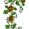 Stockvector : Repeating Sunflower Banner