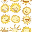 Suns - Cartoon — Image vectorielle