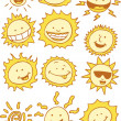 Suns - Cartoon - Stock Vector