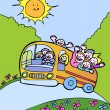 Vector de stock : Sunshine Bus