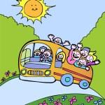 autobus Sunshine — Vettoriale Stock