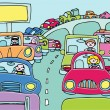 Traffic Jam — Vector de stock