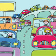 Stock Vector: Traffic Jam
