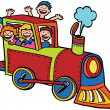 Child Train Ride — Stock Vector
