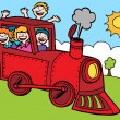 Stock Vector: Child Train Ride