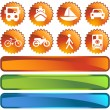 Royalty-Free Stock Imagen vectorial: Transportation Buttons - Label