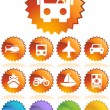 Transportation Buttons - Seal - Stock Vector