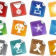 Trophy Buttons - Stock Vector