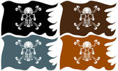 Pirate Flags — Stock Vector